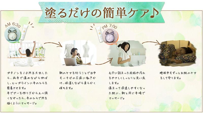 プチノン(puchinon)の効果を引き出す正しい使い方は?公式サイトをチェック!
